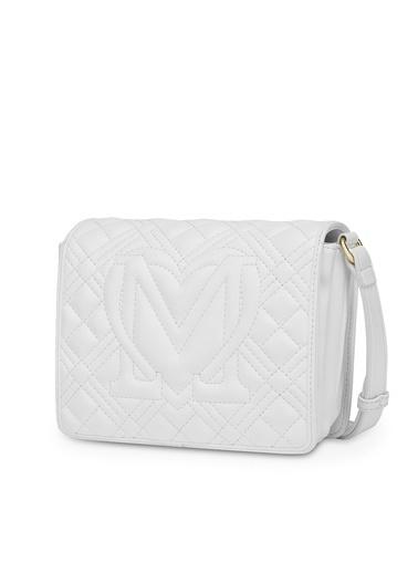 Love Moschino   Kapitoneli Ayarlanabilir Omuz Askılı Çanta Kadın Çanta Jc4002Pp1Cla0100 Beyaz